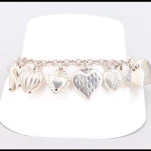 Jewelry - Antique Sterling Silver Hearts Bracelet!